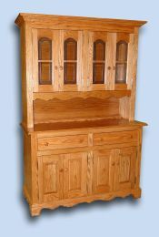 Custom Handcrafted 5 ft. Colonial Oak Hutch