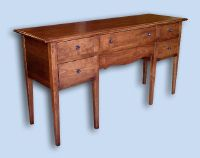 Cherry Colonial 6 Leg Breakfront Server Buffet