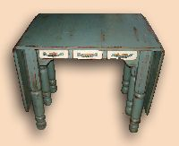 Rustic Gate Leg Drop Leaf Sewing Machine Table