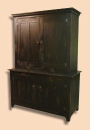 Rustic Painted Entertainment Center