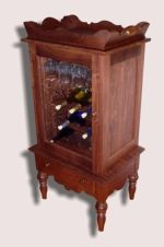 Reclaimed American Walnut Wine Cabinet