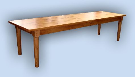 Custom Handcrafted Colonial 10 Ft. Heavy Pine Farmhouse Table