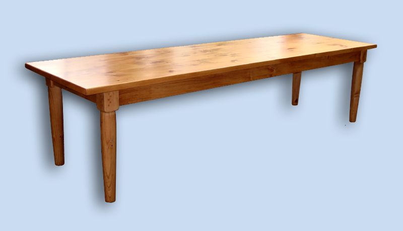 Delnero custom furniture colonial 10 ft heavy pine for 10 foot farmhouse table plans