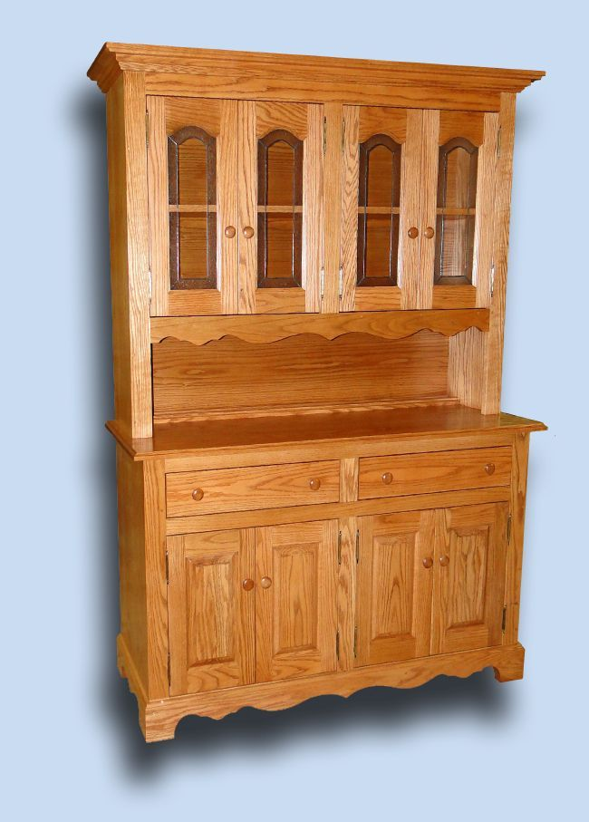 Delnero Custom Furniture Colonial 5 Ft Oak Hutch