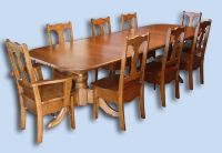 Solid Cherry Colonial Double Pedestal Extension Table & Chairs
