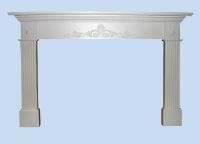 Custom Made Mantel & Fluted Pilasters
