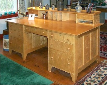 Custom Made Tiger Maple Desk