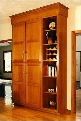 Custom Made Storage Cabinet with Wine Racks