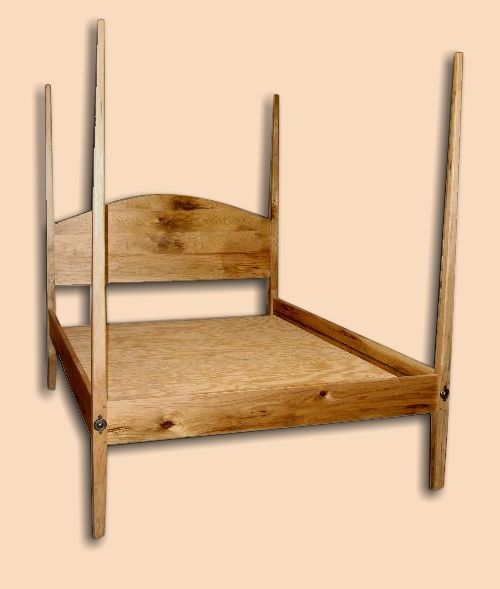 Early Settler's Butternut Pencil Post Bed Reproduction