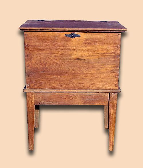 Early Settler's Butternut Rustic Sugar Chest with Hand Forged Hardware