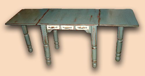 Early Settler's Gate Leg, Drop Leaf Sewing Table