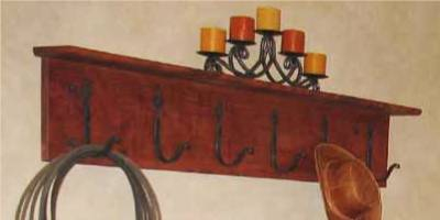 HGTV Rustic Coat Rack