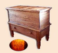 Old Fashioned Cedar Lined Butternut Hope Chest Reproduction
