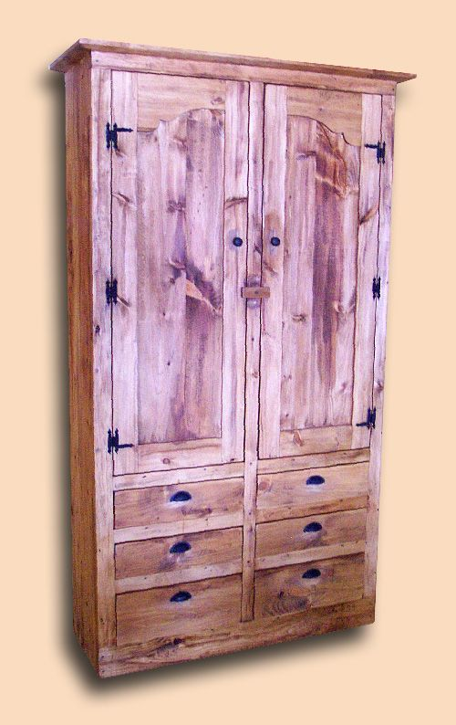 Early Settler's Pine Rustic Pantry Cupboard