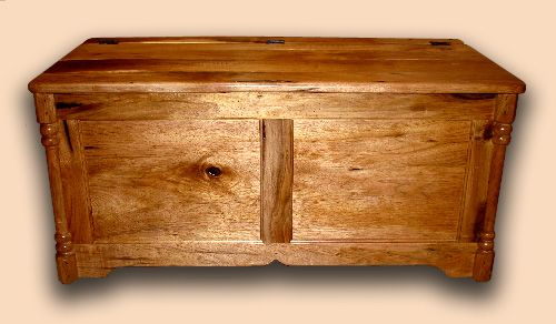 Solid Butternut Rustic Bench / Hope Chest