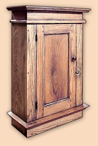 Early Settler's Butternut Rustic Wall Cupboard