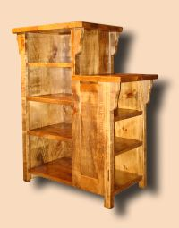 Rustic Primitive Pine Double Bookcase