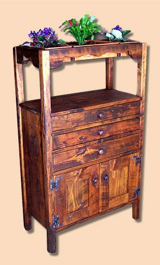 Early Settler's Reclaimed Spruce Rustic Plant Cupboard