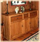 Early Settler's Pine Rustic Sideboard