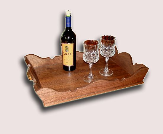 Reclaimed American Walnut Wine Cabinet Removable Tray Top