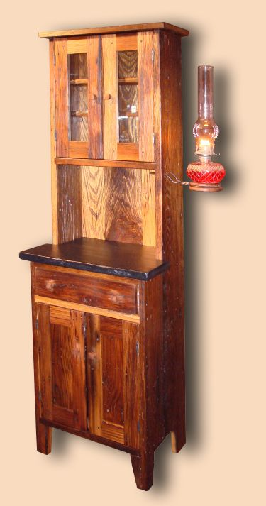 Reclaimed Chestnut Bathroom Cupboard Reproduction