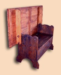 Reclaimed Hemlock Table Back Bench
