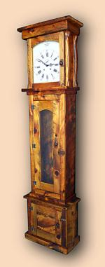 Reclaimed White Pine Rustic Tall Clock