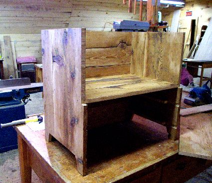 Reclaimed Spruce Rustic Blanket Chest Reproduction
