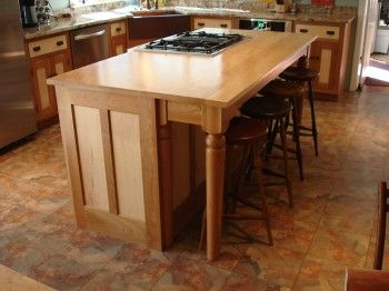 Colonial Cherry & Tiger Maple Custom Kitchen