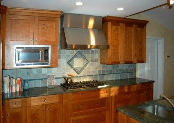 Heirloom Flame Cherry Shaker Style Custom Kitchen