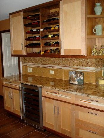 Sugar Maple & Walnut Asian Style Custom Kitchen