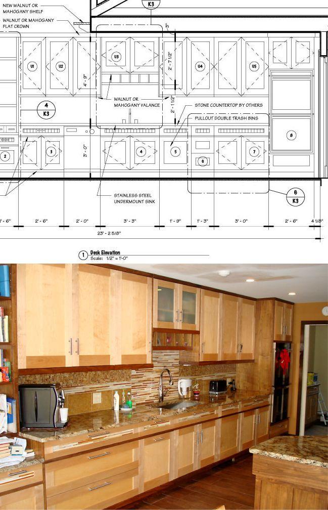 Delnero custom furniture sugar maple walnut asian style for Asian inspired kitchen cabinets