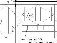 An Elevation Drawing of the Desk & Bank of Cabinets