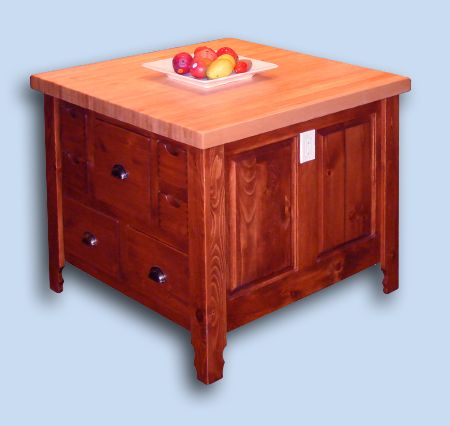 Classic Colonial Pine Kitchen Custom Island