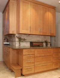Modern Arts & Crafts Quarter Sawn Oak Kitchen