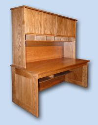 Modern Red Oak Computer Desk
