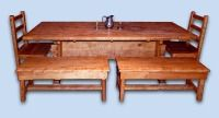 Rustic Mission Styled Tiger Maple Dining Room Set