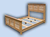 Handcrafted Cherry & Artistic Tiger Maple Shaker Platform Bed
