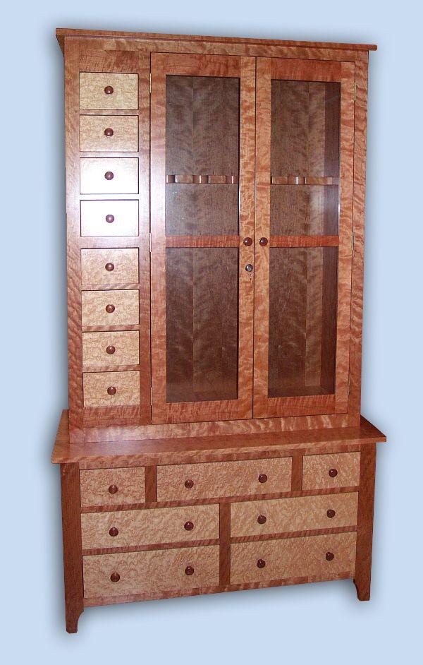 Delnero custom furniture custom heirloom flame cherry for Birds eye maple kitchen cabinets